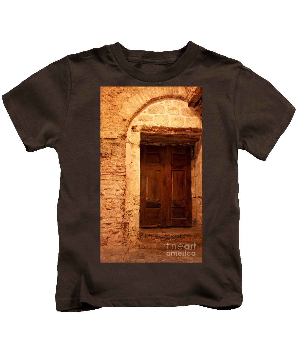Istanbul Kids T-Shirt featuring the photograph Old Wooden Doors by Rick Piper Photography