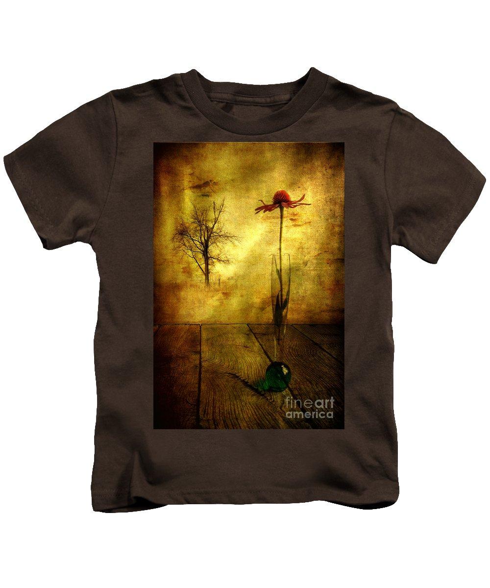 Artist Kids T-Shirt featuring the photograph On The Table by Veikko Suikkanen