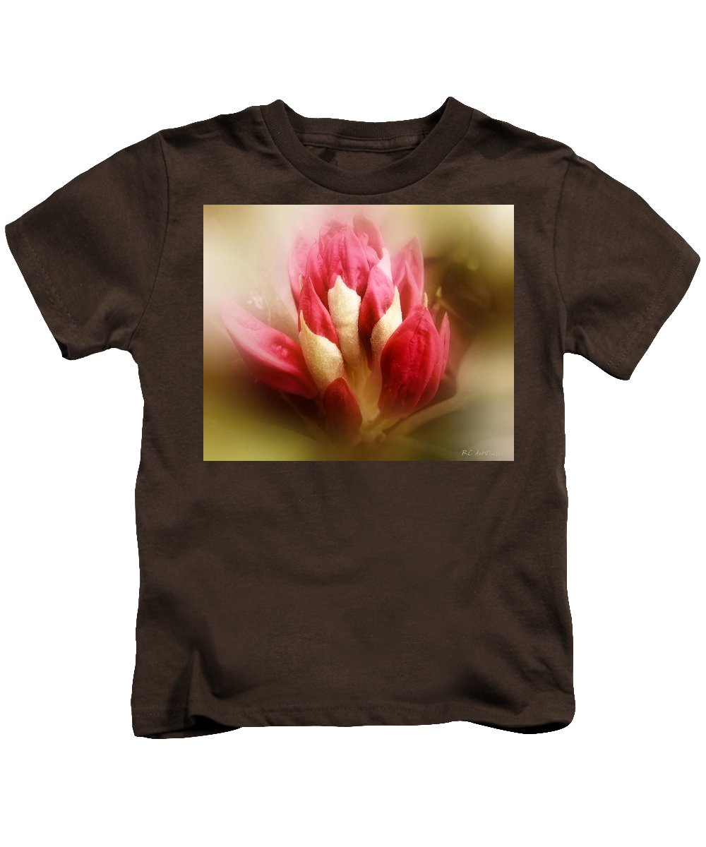 Rhododendron Kids T-Shirt featuring the photograph On The Verge by RC DeWinter
