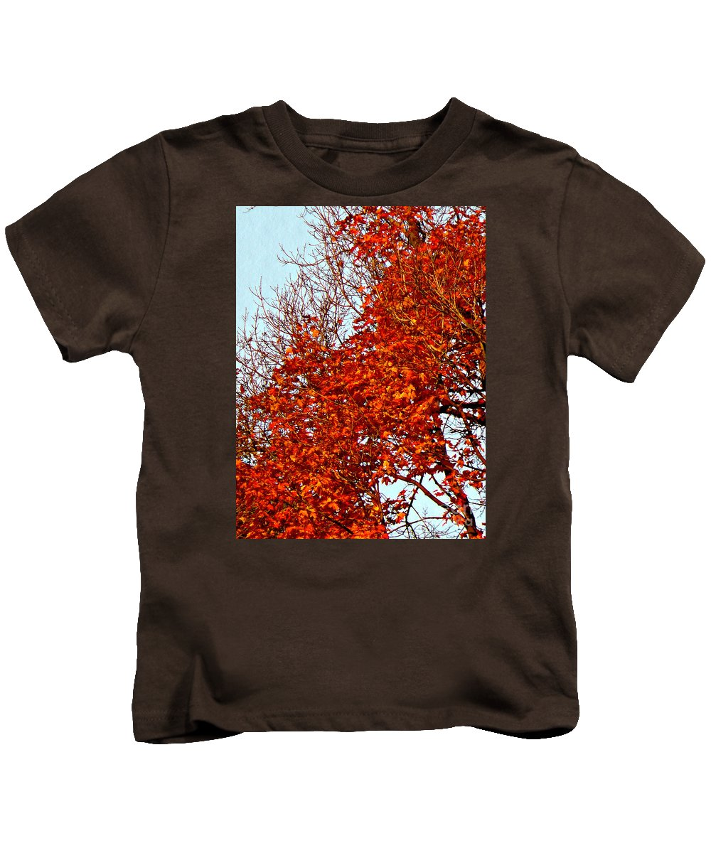 Nature Photograph Kids T-Shirt featuring the photograph Orange Red Blanket by Chris Sotiriadis