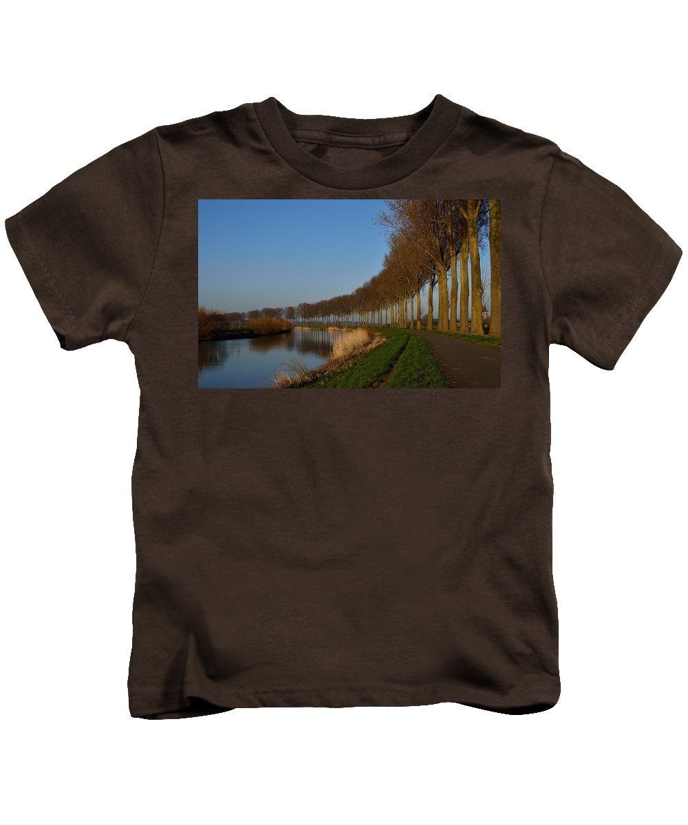 Night Kids T-Shirt featuring the photograph Panoramic View On Pottes - Belgium by TouTouke A Y