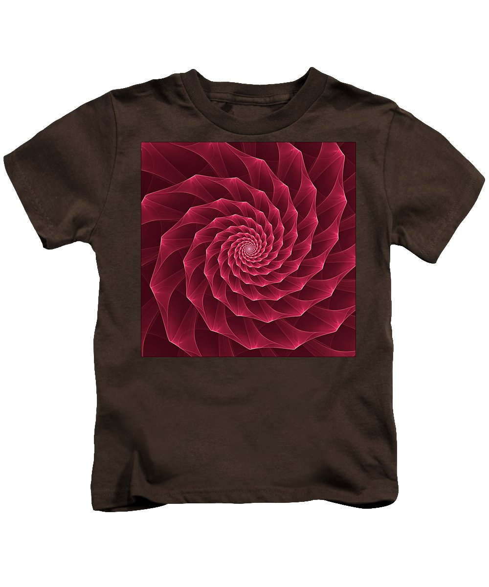 Abstract Kids T-Shirt featuring the digital art Parawanji Fractal Vortex by Doug Morgan