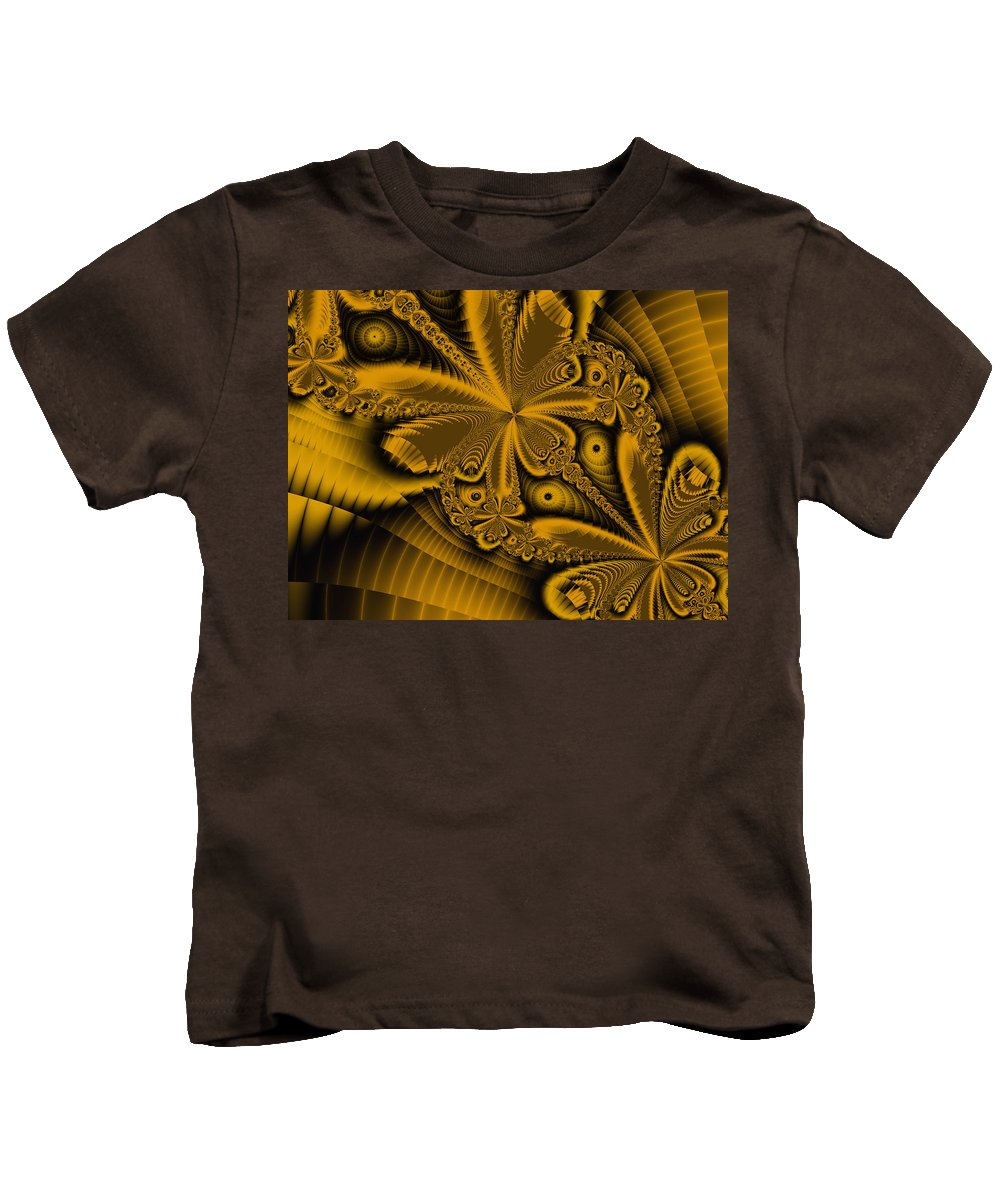 Fractal Art Kids T-Shirt featuring the digital art Paths Of Possibility by Elizabeth McTaggart