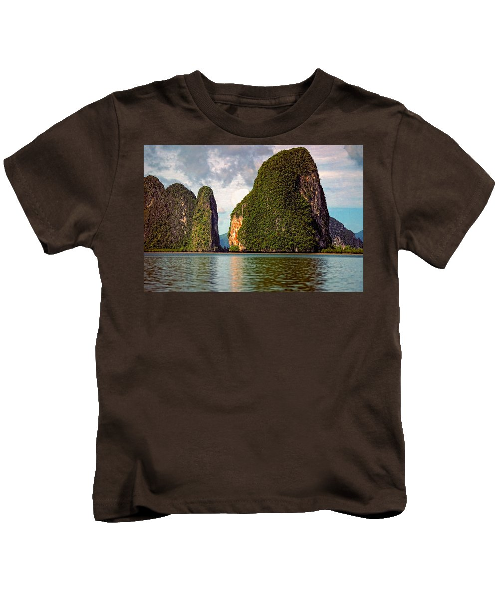Phang Nga Bay Kids T-Shirt featuring the photograph Phang Nga Bay by Steve Harrington