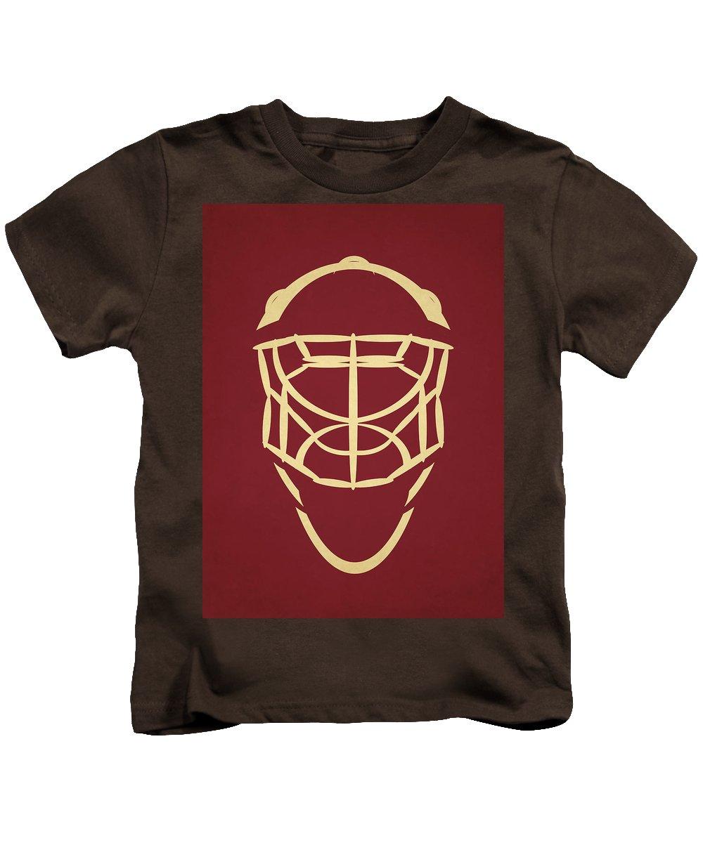 Coyotes Kids T-Shirt featuring the photograph Phoenix Coyotes Goalie Mask by Joe Hamilton