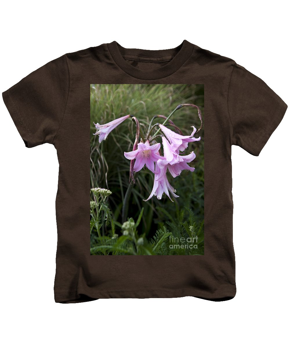 Pink Kids T-Shirt featuring the photograph Pink Belladonna Lily - Naked Lady - Belladonna Amaryllis by Jason O Watson
