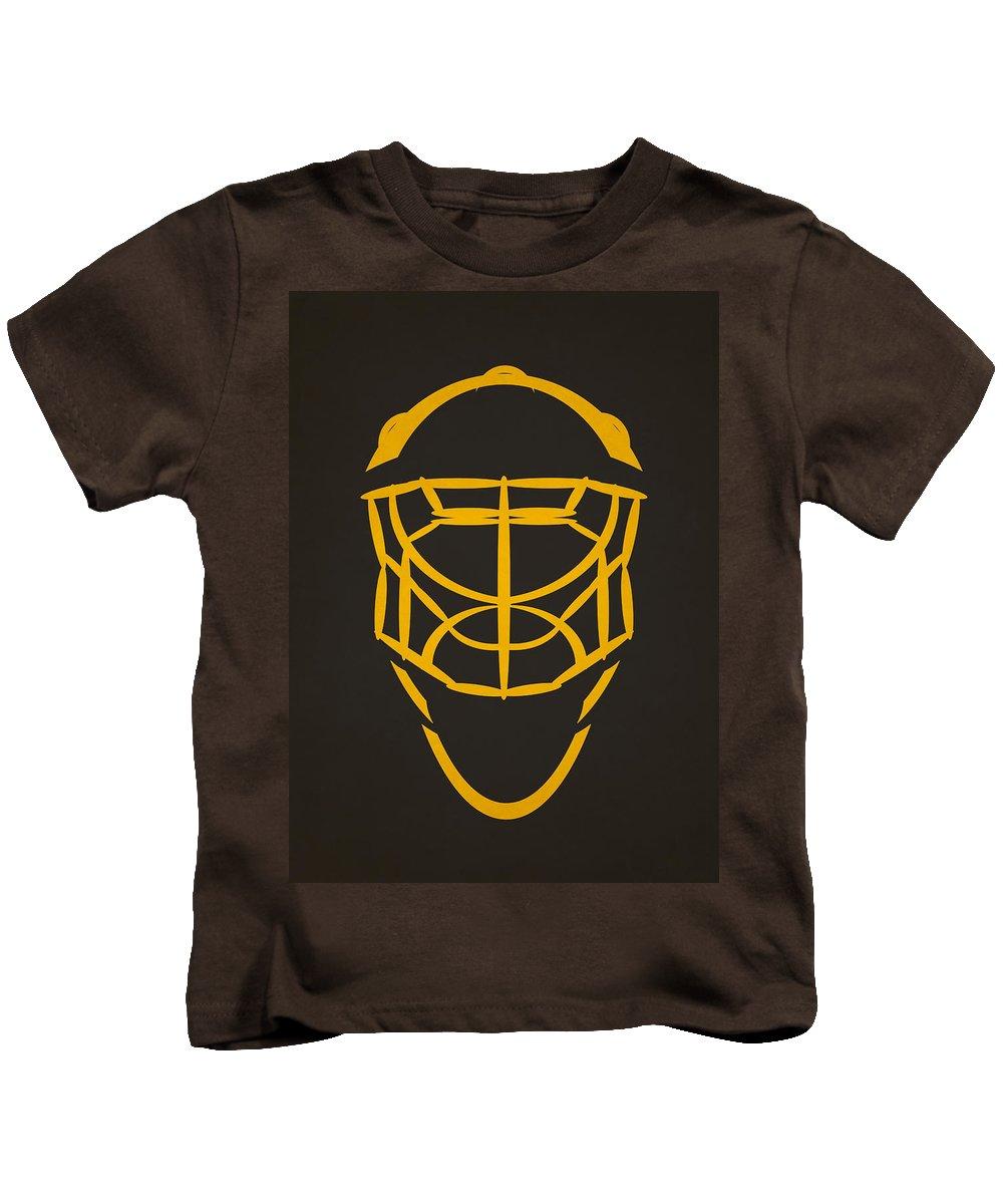 Penguins Kids T-Shirt featuring the photograph Pittsburgh Penguins Goalie Mask by Joe Hamilton