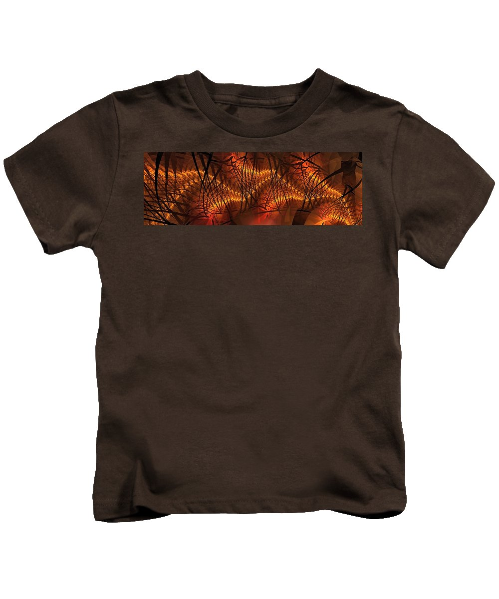 High Voltage Kids T-Shirt featuring the digital art Plasma Stream by Doug Morgan