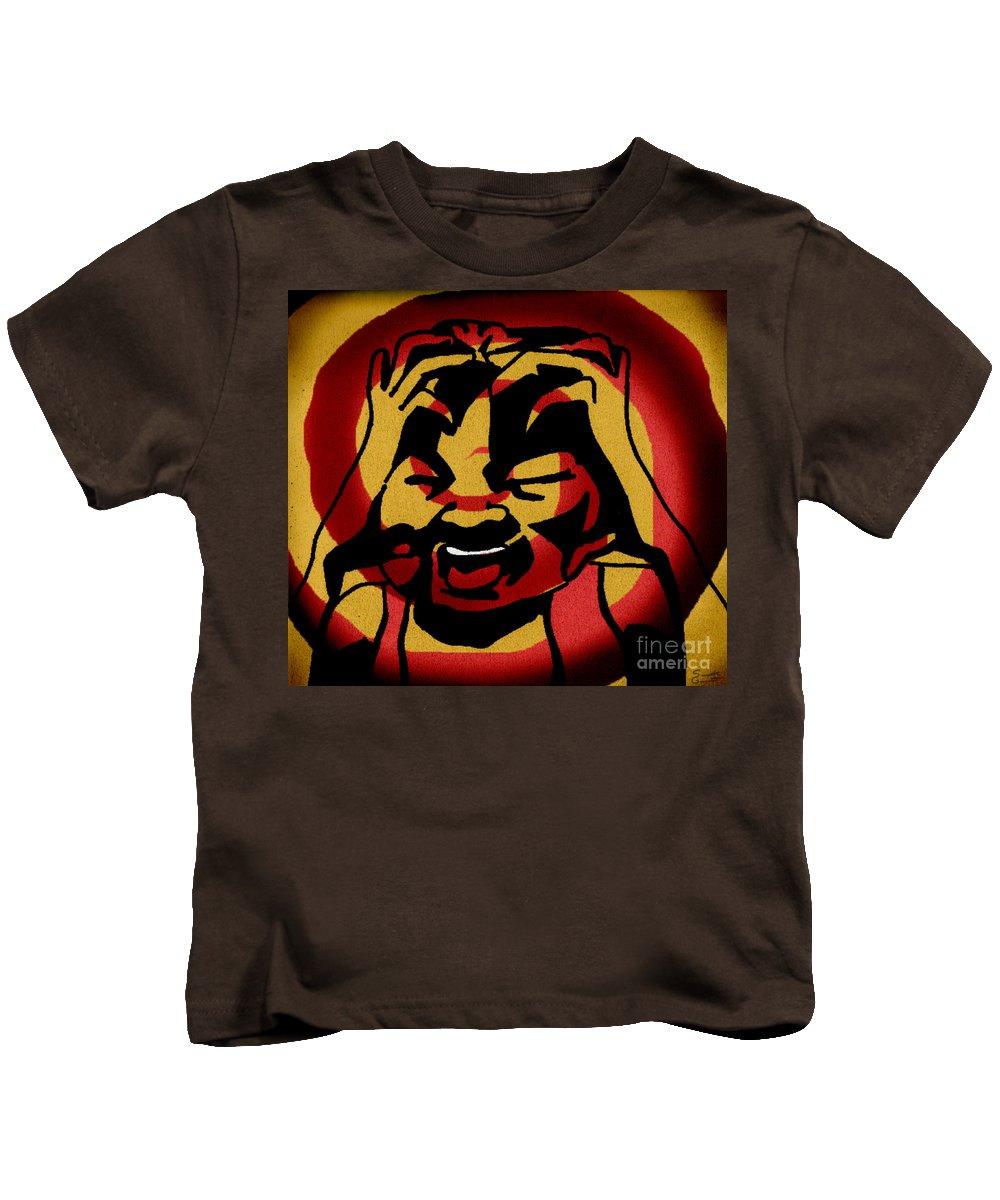 Red Kids T-Shirt featuring the digital art Rage by Samantha Geernaert