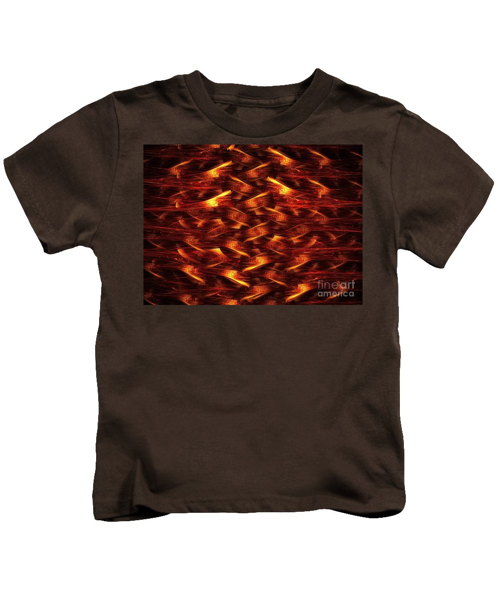 Apophysis Kids T-Shirt featuring the digital art Red Pine by Kim Sy Ok