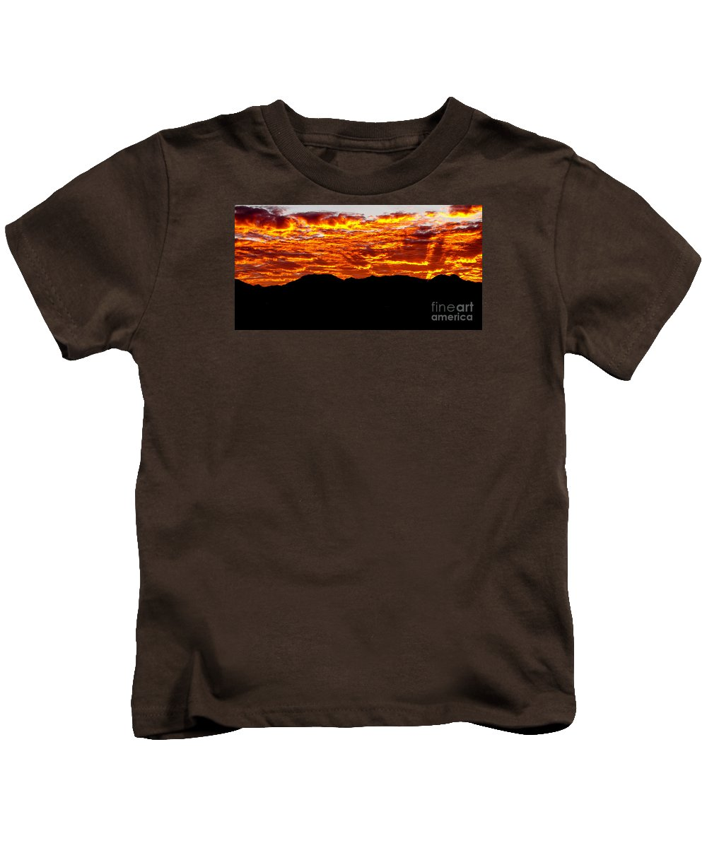 Sunrise Kids T-Shirt featuring the photograph Red Rays by Robert Bales