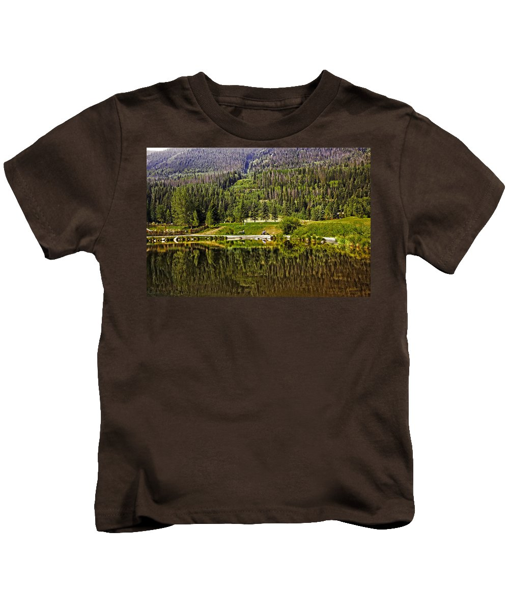 Vail Kids T-Shirt featuring the photograph Reflections Of Vail by Madeline Ellis