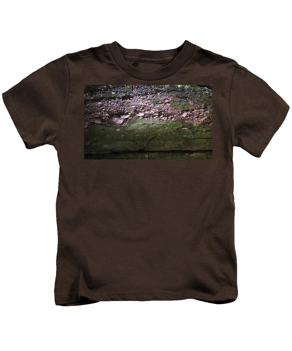 Parfreys Glen Kids T-Shirt featuring the photograph Rocks - Parfreys Glen - Wisconsin by Steven Ralser