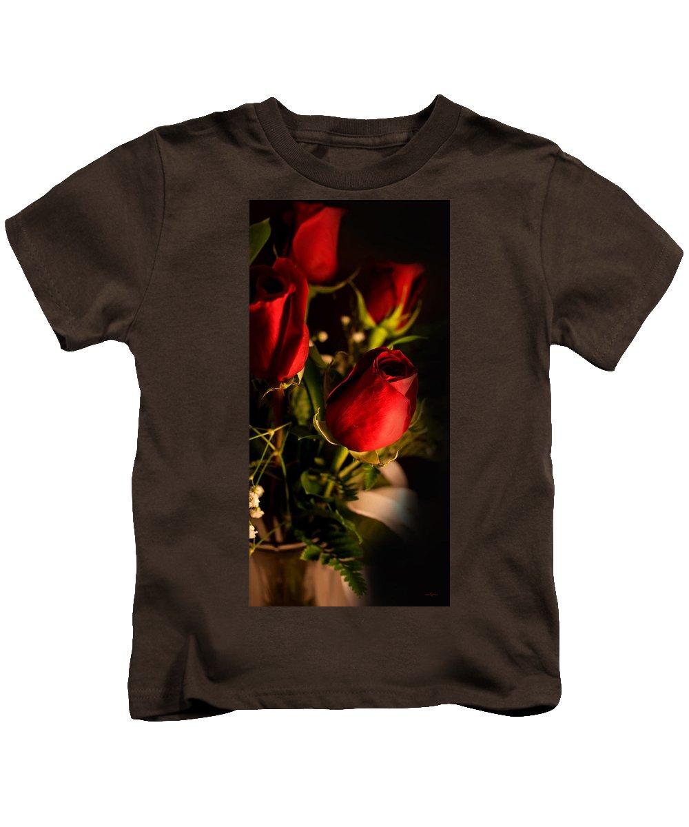 Rose Bouquet Kids T-Shirt featuring the photograph Rose Bouquet by Mechala Matthews
