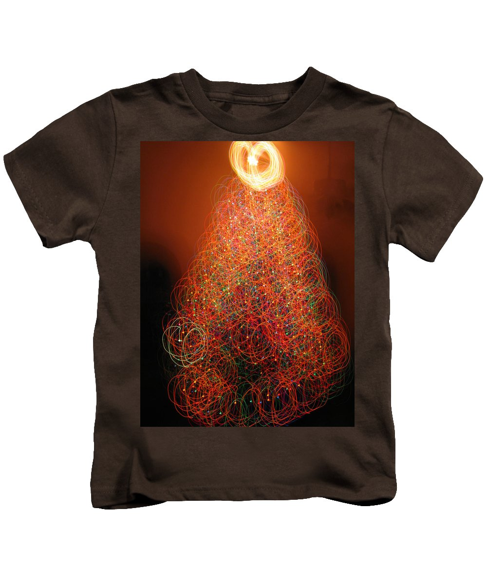 Christmas Tree Kids T-Shirt featuring the photograph Round And Round The Christmas Tree by Rick Locke