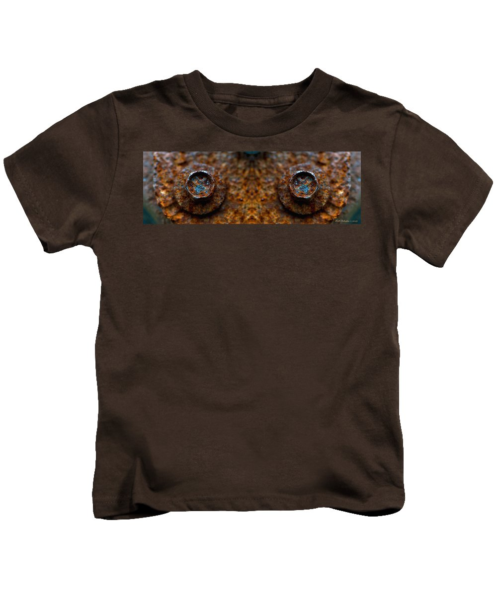 Kids T-Shirt featuring the photograph Rust Eyes 2 by WB Johnston