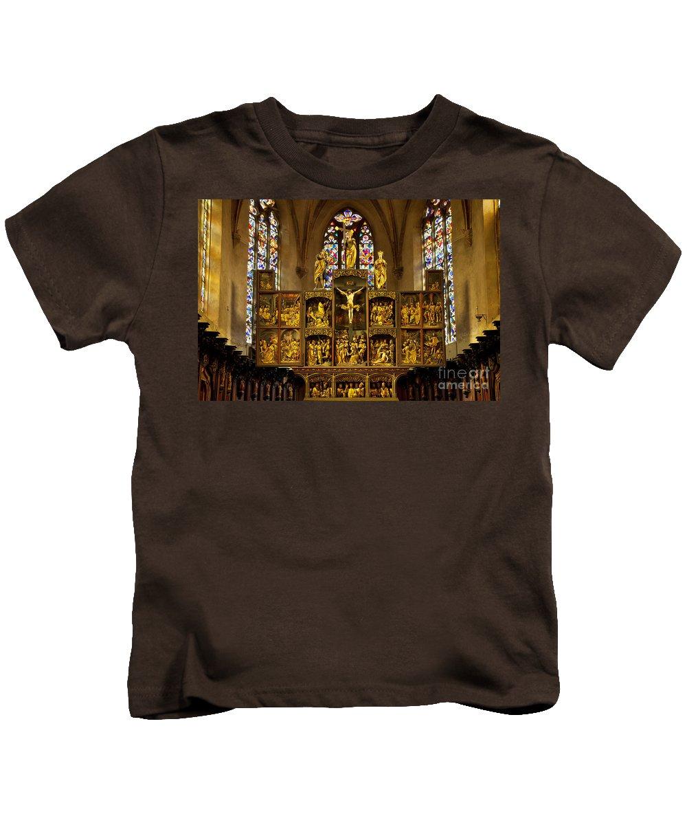 Alsace Kids T-Shirt featuring the photograph Sainte Croix - Kaysersberg France by Brian Jannsen