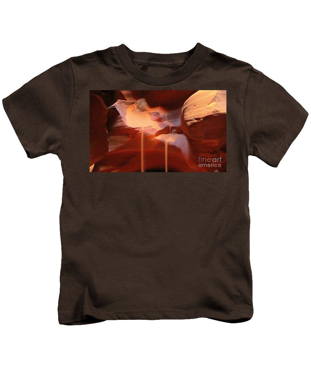 Nature Kids T-Shirt featuring the photograph Sand Waterfalls by John Malone