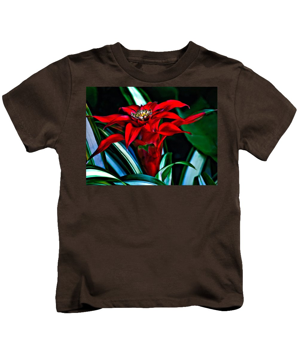 Red Kids T-Shirt featuring the photograph Sassy Girl by Steve Harrington