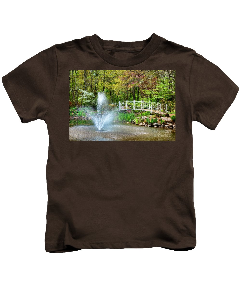 Sayen Kids T-Shirt featuring the photograph Sayen Garden Impression by Olivier Le Queinec