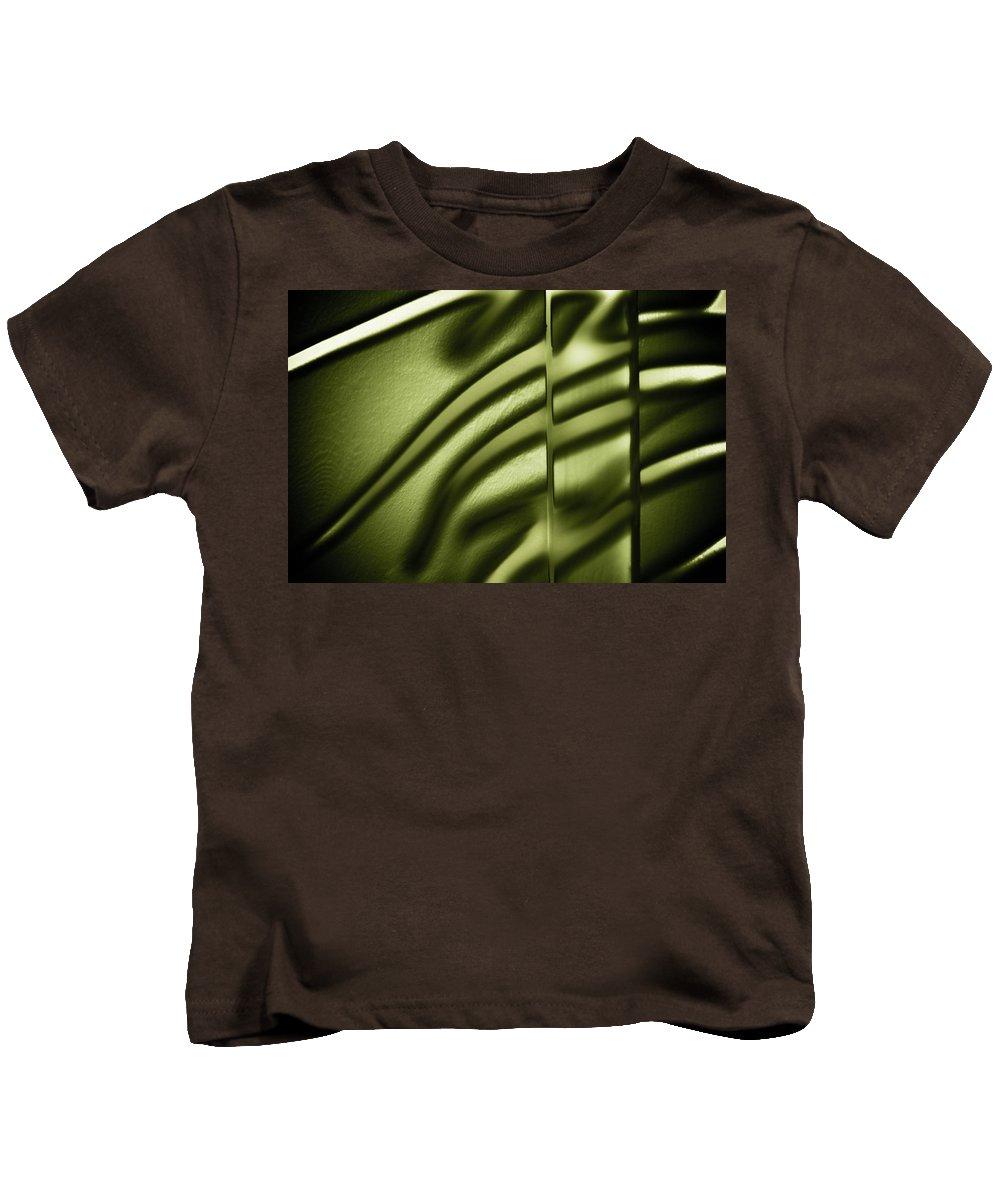 Abstract Kids T-Shirt featuring the photograph Shadows On Wall by Darryl Dalton
