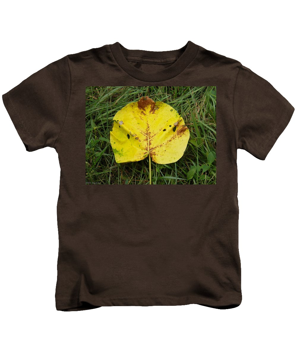 Leaf Kids T-Shirt featuring the photograph Single Leaf by Nick Kirby