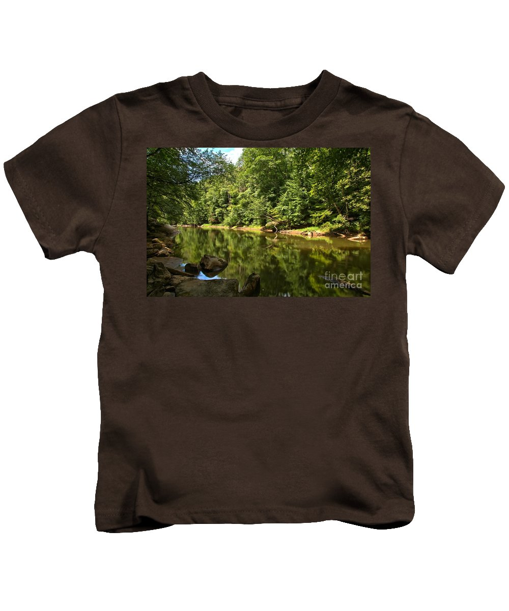 Slippery Rock Creek Kids T-Shirt featuring the photograph Slippery Rock Creek by Adam Jewell
