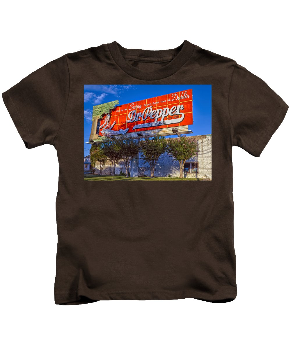 Dublin Kids T-Shirt featuring the photograph Spend Some Time In Dublin Texas With Dr Pepper by Mountain Dreams