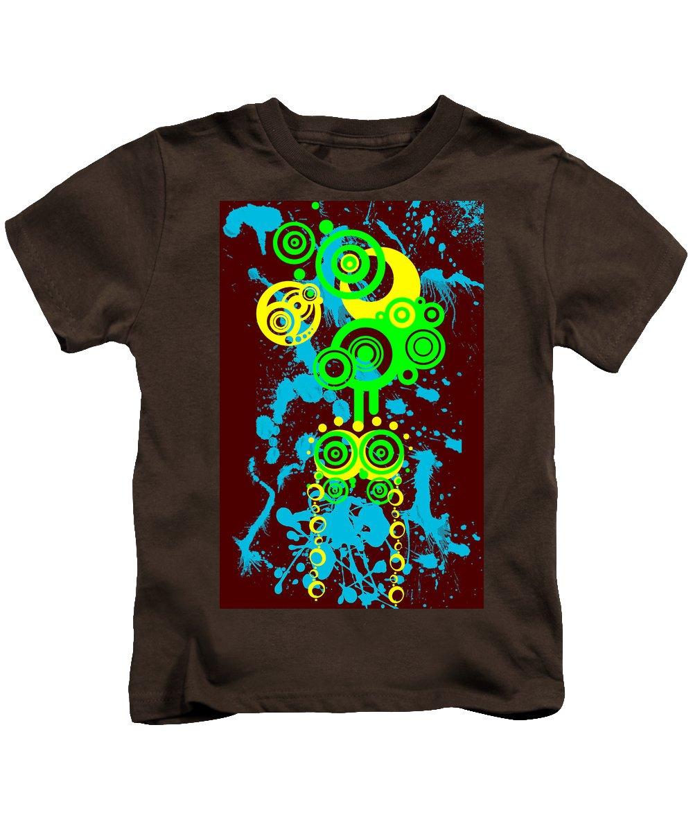Red Kids T-Shirt featuring the digital art Splattered Series 1 by Teri Schuster