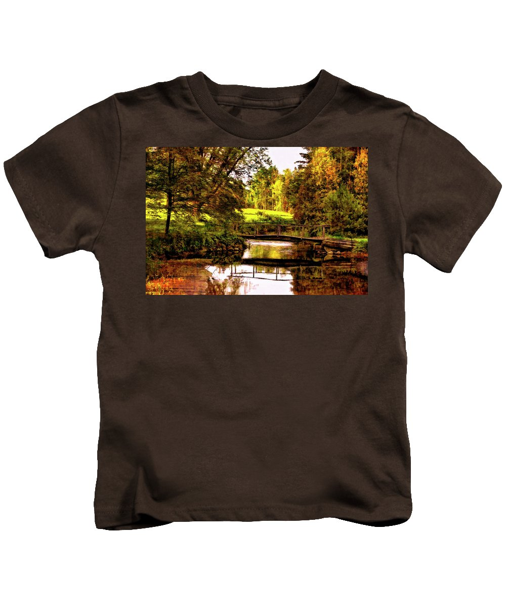 Landscape Kids T-Shirt featuring the photograph Spring Becomes The Summer II by Steve Harrington