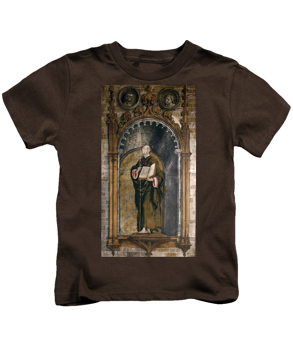 Pedro Berruguete Kids T-Shirt featuring the painting St. Peter by Pedro Berruguete