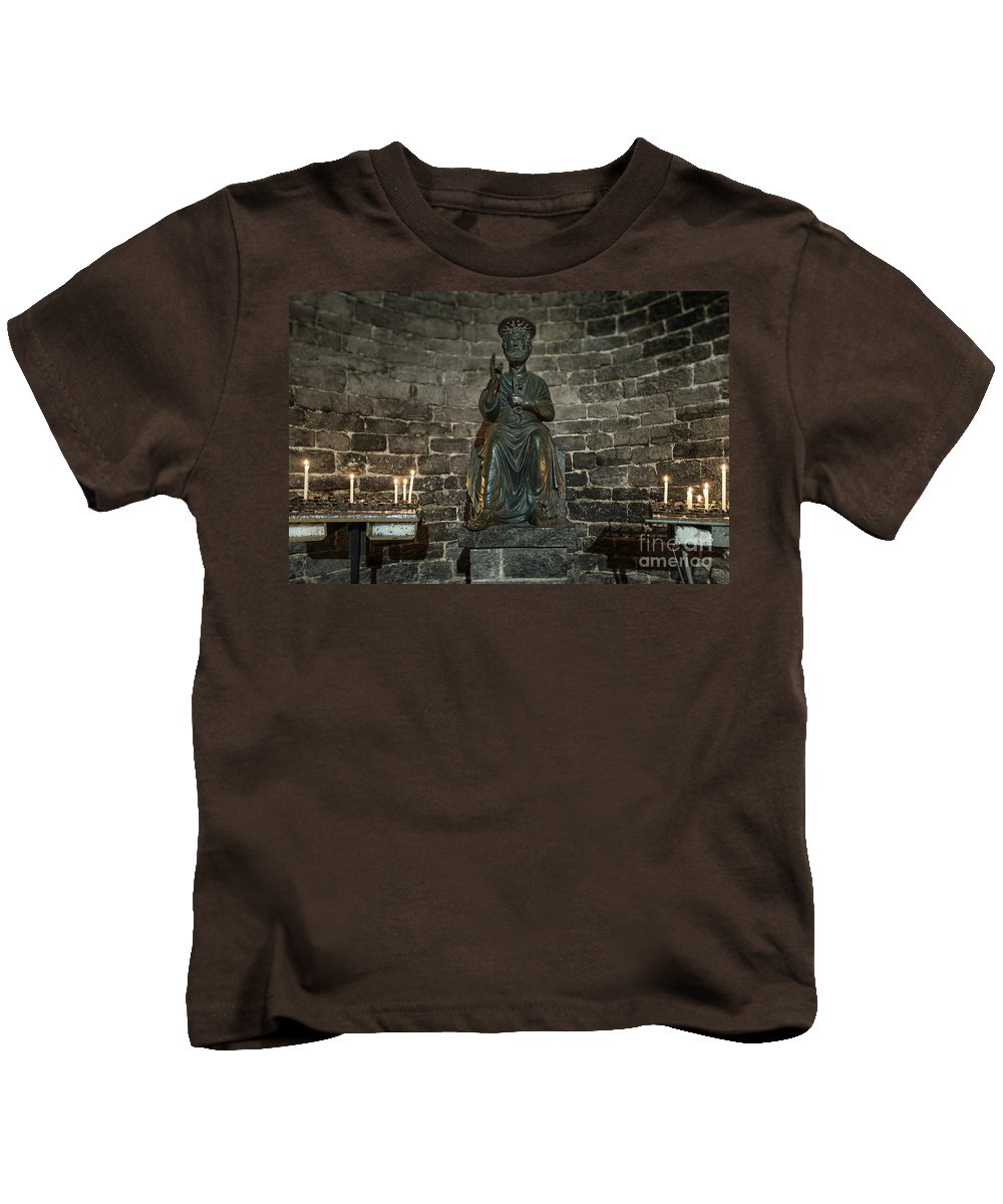 Christianity Kids T-Shirt featuring the photograph St Peters Medieval Church Porto Venere by John Greim