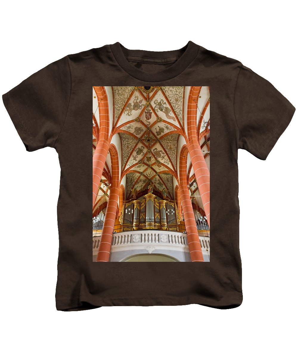 Germany Kids T-Shirt featuring the photograph St Wendel Basilica Organ by Jenny Setchell