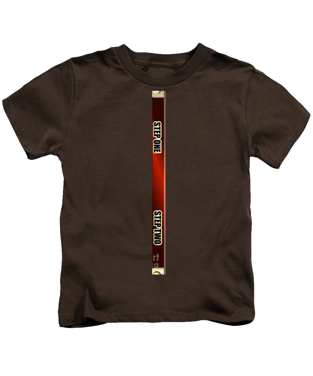 Supplies Kids T-Shirt featuring the digital art Step by Archangelus Gallery