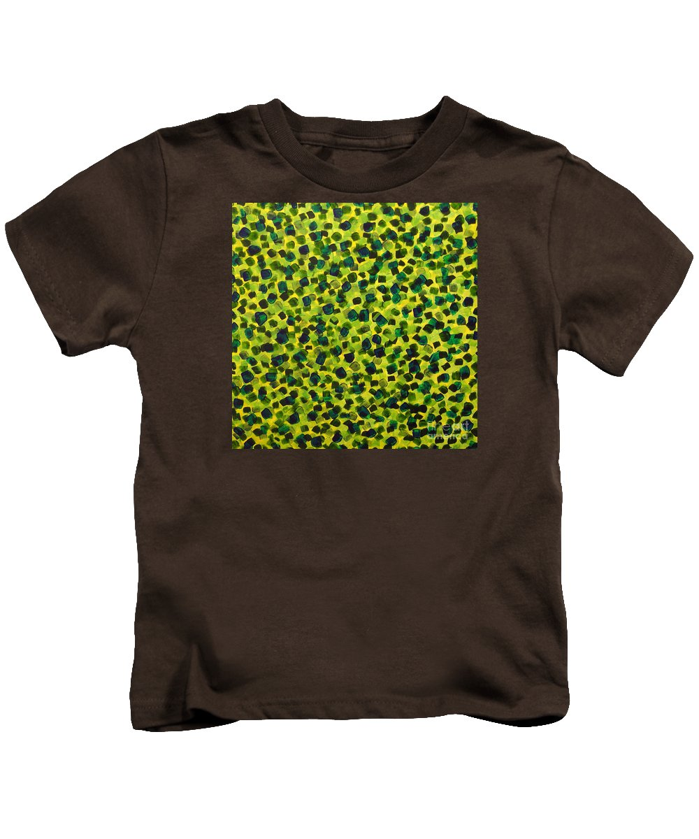 Abstract Kids T-Shirt featuring the painting Sunlight Through The Trees 2 by Dean Triolo