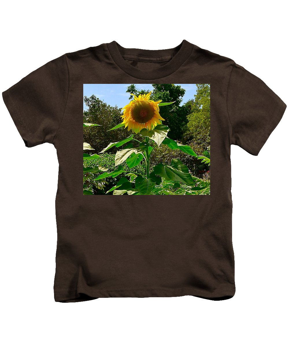 Sunflower Kids T-Shirt featuring the photograph Sunflower Sally by Denise Mazzocco