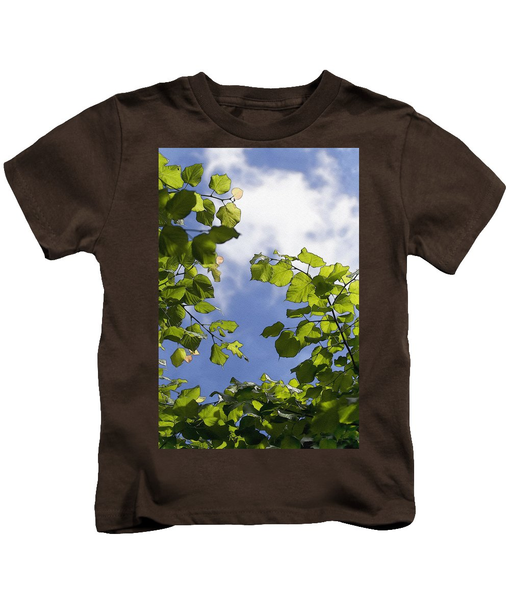Painterly Kids T-Shirt featuring the photograph Sunny Sky by Pati Photography