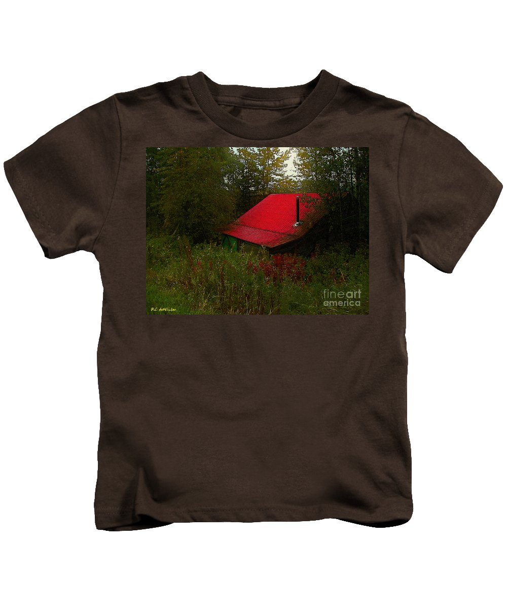 Americana Kids T-Shirt featuring the painting Sunrise In The Hollow by RC DeWinter