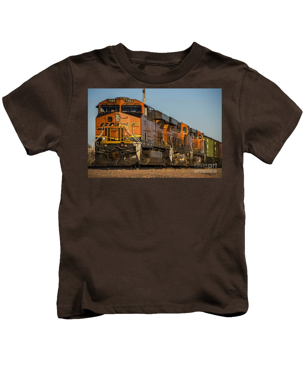 Bnsf Kids T-Shirt featuring the photograph Texas Freight by Rob Hawkins