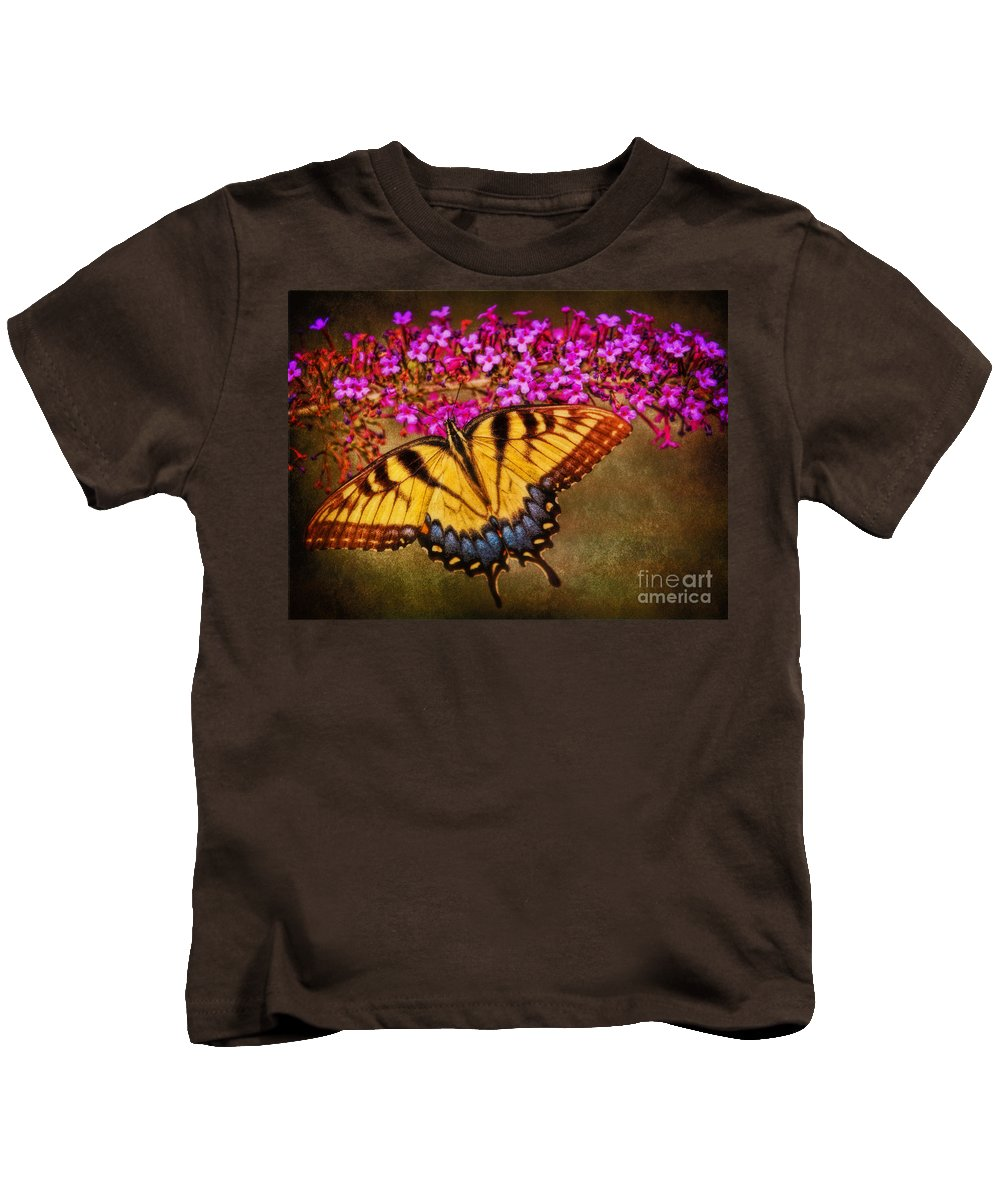 Female Eastern Tiger Swallowtail Kids T-Shirt featuring the photograph The Butterfly Effect by Elizabeth Winter