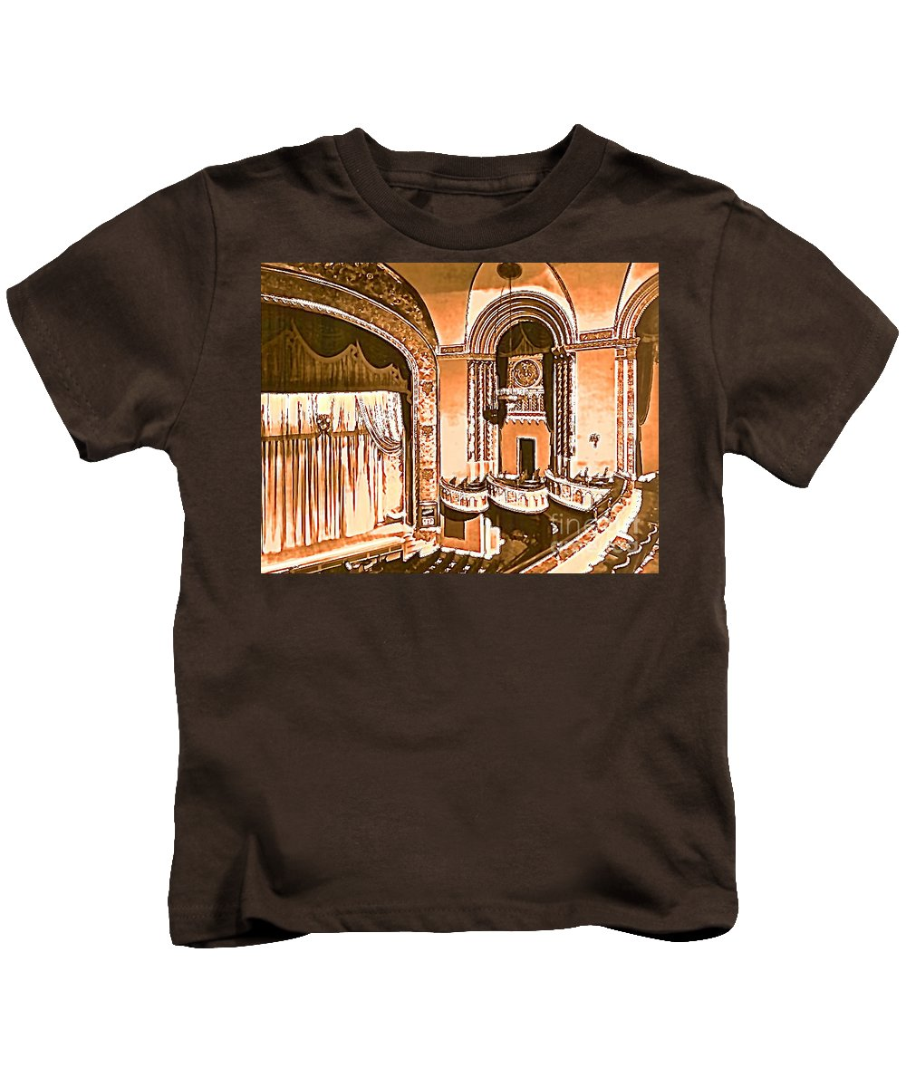 Theater Kids T-Shirt featuring the photograph The Capitol Theater In Port Chester Ny by Christy Gendalia