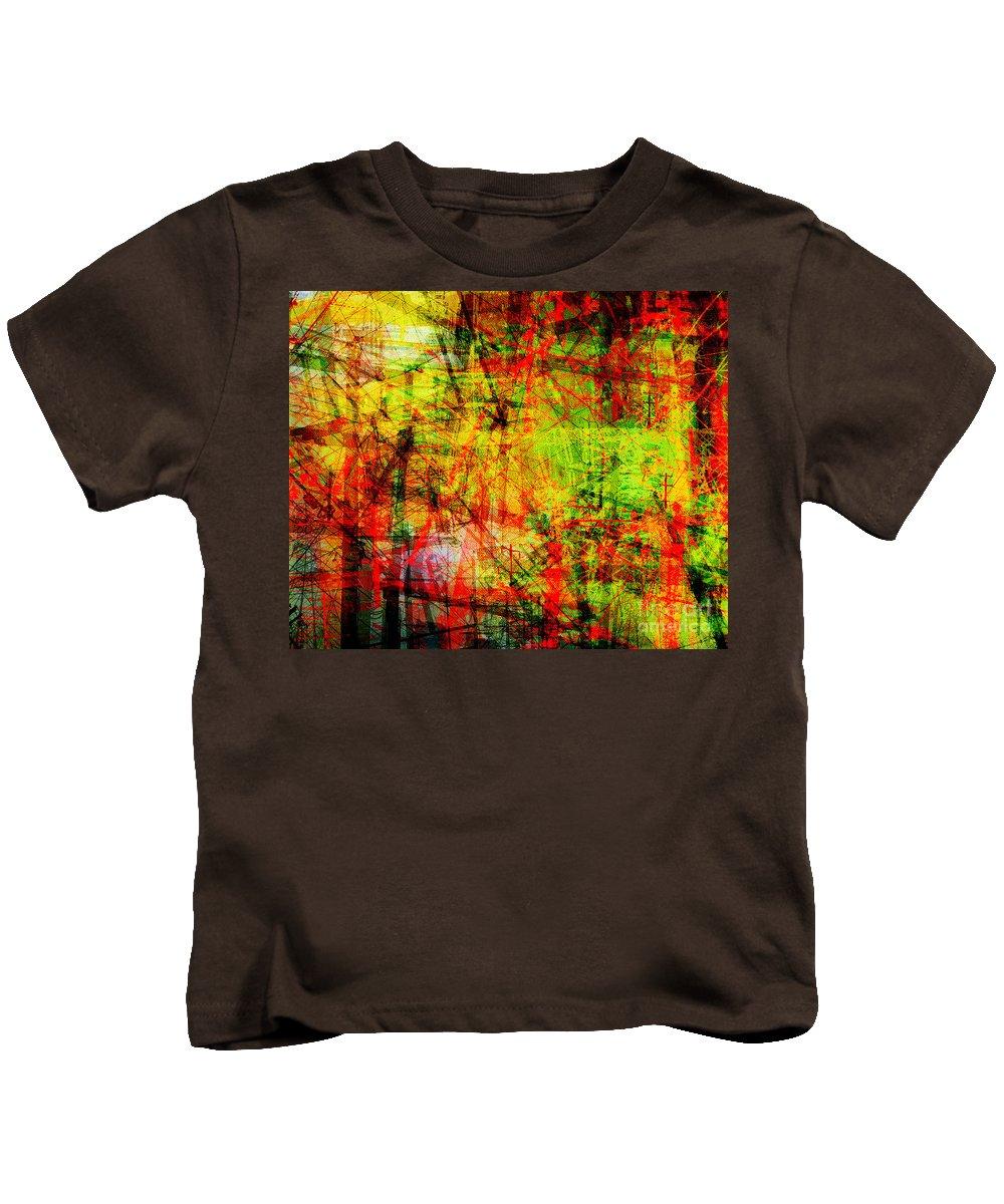 Brandon Lynch Kids T-Shirt featuring the digital art The City 20 by Brandon Lynch