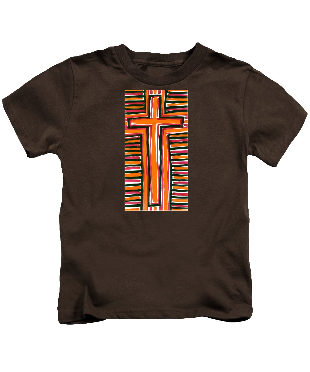 Abstract Art Kids T-Shirt featuring the painting The Cross by Alexander Alvarez