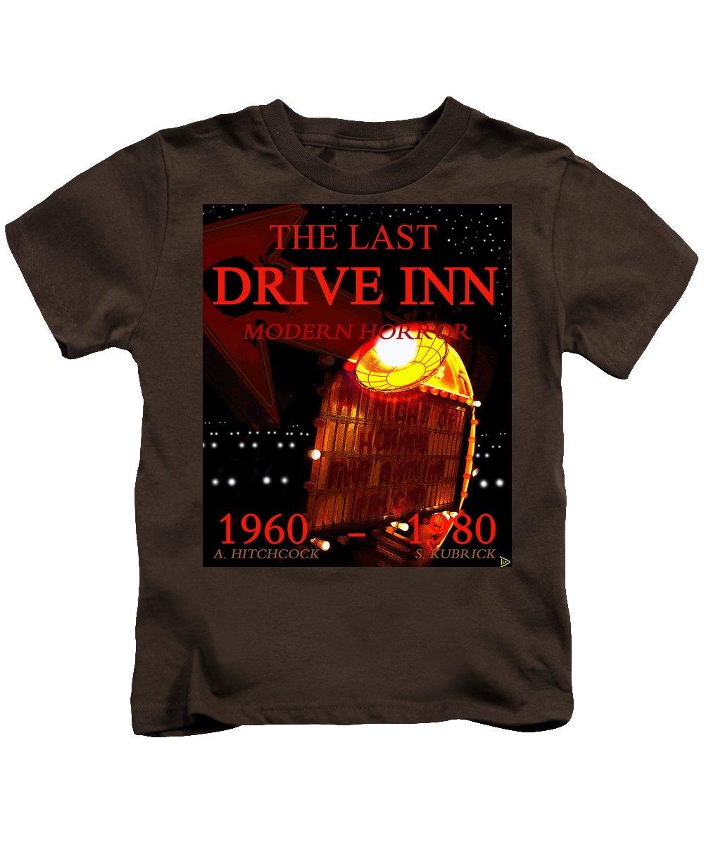 The Last Drive Inn Kids T-Shirt featuring the painting The Last Drive Inn by David Lee Thompson