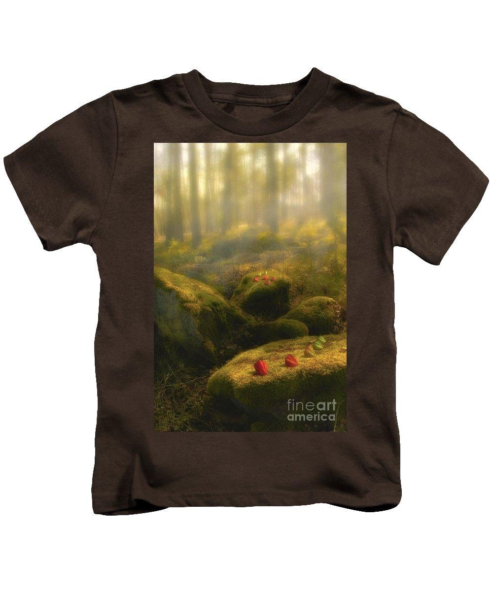 Art Kids T-Shirt featuring the photograph The Magic Forest by Veikko Suikkanen
