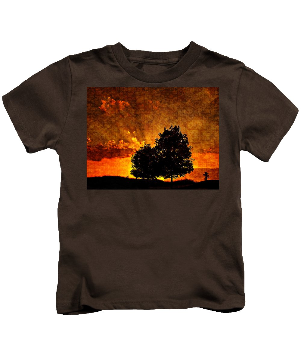 Sunset Kids T-Shirt featuring the photograph The Promise Overlay Version by Steve Harrington