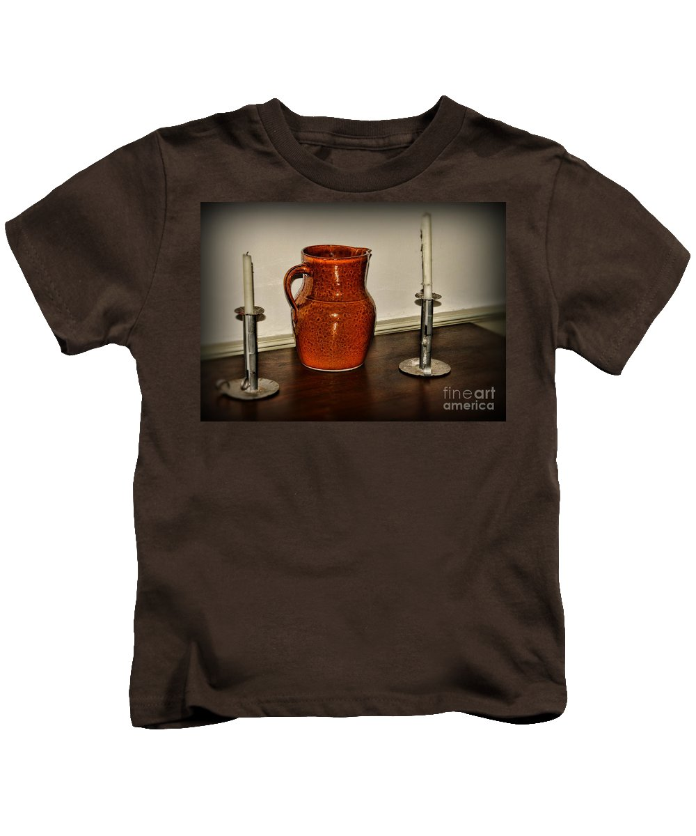 Paul Ward Kids T-Shirt featuring the photograph The Water Pitcher by Paul Ward