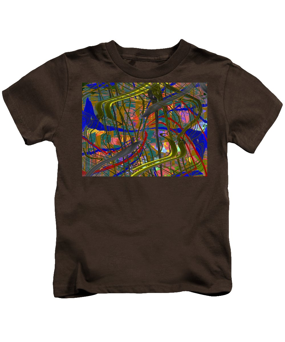 Graffiti Kids T-Shirt featuring the digital art The Writing On The Wall 23 by Tim Allen