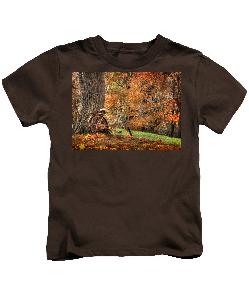 Bicycle Kids T-Shirt featuring the photograph These Old Bones by Lori Deiter