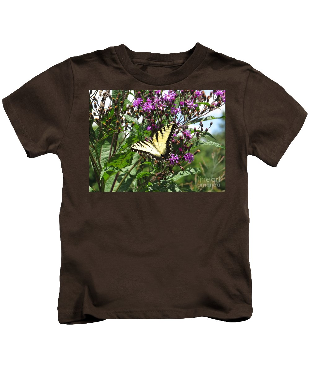 Nature Kids T-Shirt featuring the photograph Tiger Butterfly by Dawn Gari